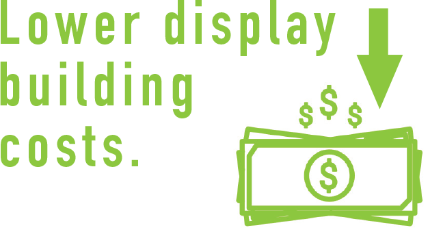 Lower display costs
