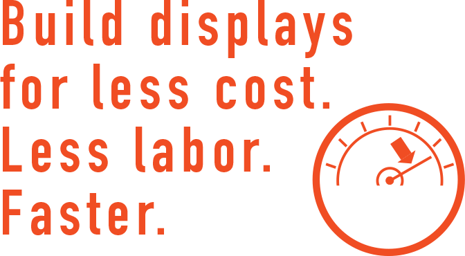 Displays for less