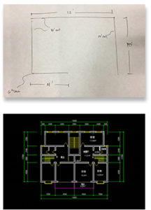 office stand alone room blueprint